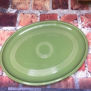 """Oval Green Large Serving Platter 16"""" The Cellar"""